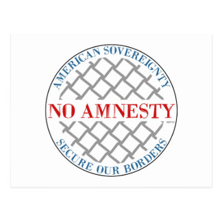 No Amnesty Postcard