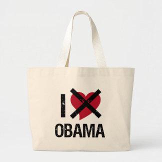 No amo a Obama Bolsa Tela Grande