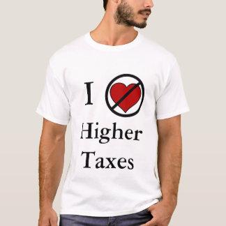 No amo impuestos más altos playera