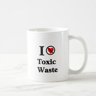 No amo la basura tóxica taza