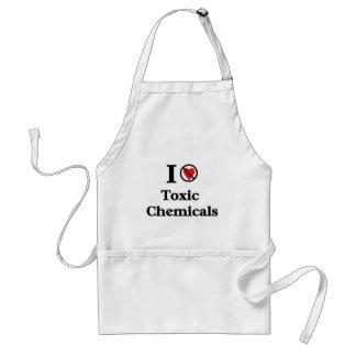 No amo las sustancias químicas tóxicas delantal