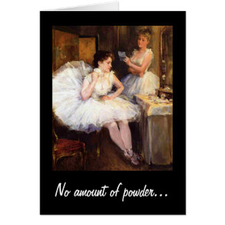 No amount of powder Humor Vintage Birthday Card