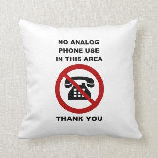 No Analog Phones Thank You Throw Pillows