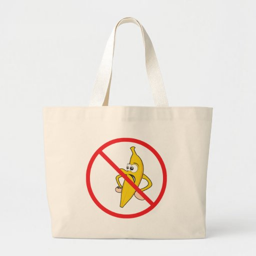 No Angry Bananaheads! Canvas Bags