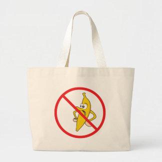 No Angry Bananaheads! Large Tote Bag