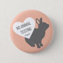 No Animal Testing Pinback Button