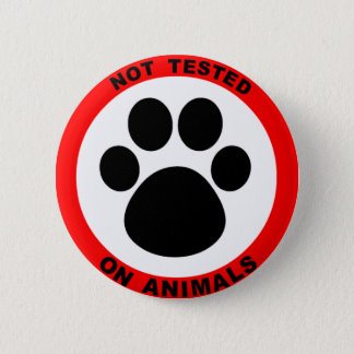 No Animal Testing Symbol Button