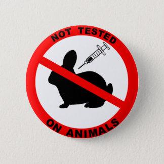 No Animal Testing Symbol Pinback Button