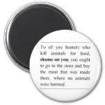 No animals harmed at supermarket meat counter? 2 inch round magnet