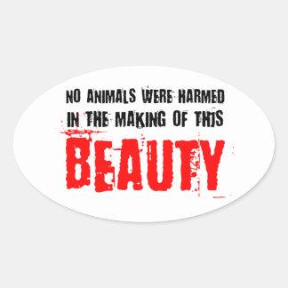 No Animals Were Harmed Oval Sticker
