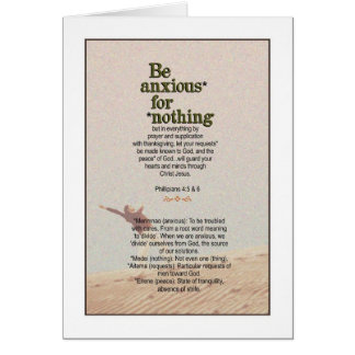 No Anxiety Required! Philippians 4:5&6 Card