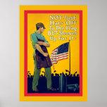 No apenas gorras de la guerra mundial del vintage  posters