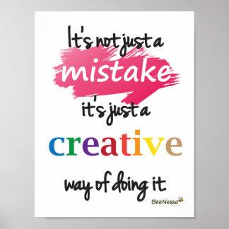No apenas un error, apenas un poster creativo de l póster