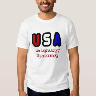 No apologies necessary t-shirt