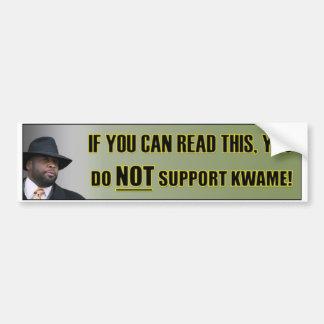 No apoye a la pegatina para el parachoques de Kwam Etiqueta De Parachoque