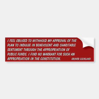 No Appropriation for Charity in Constitution Bumper Stickers
