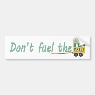No aprovisione de combustible el Mabus Etiqueta De Parachoque
