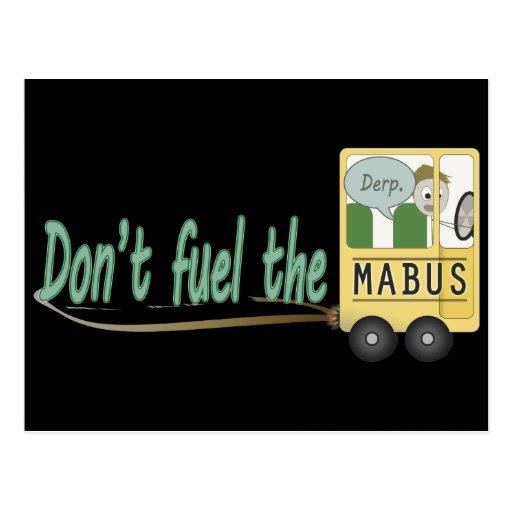 No aprovisione de combustible el Mabus Tarjeta Postal