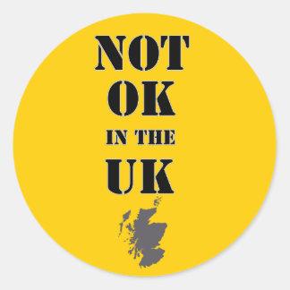 No APRUEBE en el pegatina escocés BRITÁNICO de la