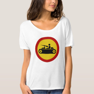 No Armored Vehicles, Traffic Sign, Bosnia T-Shirt