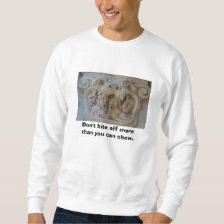No arranque con los dientes más que usted puede suéter