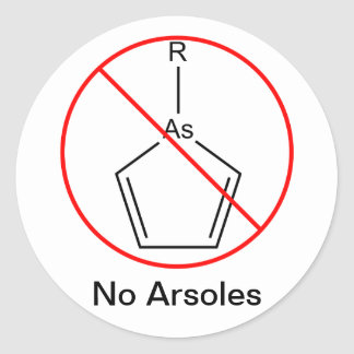 No Arsoles! Classic Round Sticker