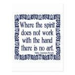 No Art Postcard