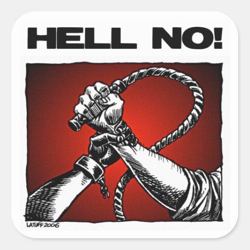¡No! Arte anti de la discriminación de la Pegatina Cuadrada