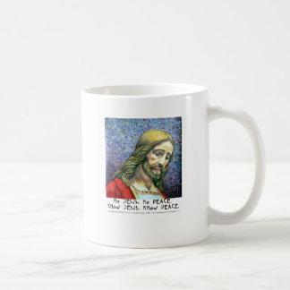No asalte a ningún Jesús ninguna paz Jesús 4 Tazas De Café
