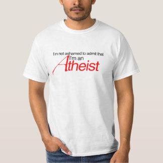 No asustado admitir Im un ateo Remera