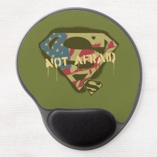 No asustado - S-Escudo de los E.E.U.U. del Alfombrilla De Ratón Con Gel