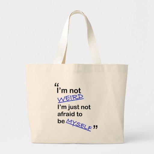 No asustado ser mismo bolsa