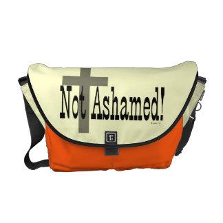 ¡No avergonzado! 1:16 de los romanos (con la cruz) Bolsa Messenger