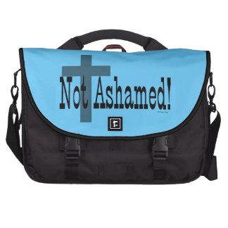 ¡No avergonzado! 1:16 de los romanos (con la cruz) Bolsa Para Ordenador