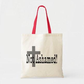 ¡No avergonzado! 1:16 de los romanos (con la cruz) Bolsa Tela Barata