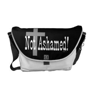 ¡No avergonzado! 1:16 de los romanos (con la cruz) Bolsas Messenger