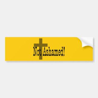 ¡No avergonzado! 1:16 de los romanos (con la cruz) Etiqueta De Parachoque