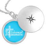 ¡No avergonzado! 1:16 de los romanos (con la cruz) Collares Personalizados