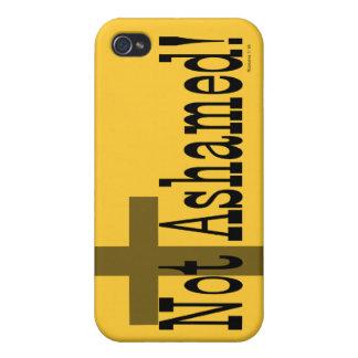 ¡No avergonzado! 1:16 de los romanos (con la cruz) iPhone 4/4S Carcasa