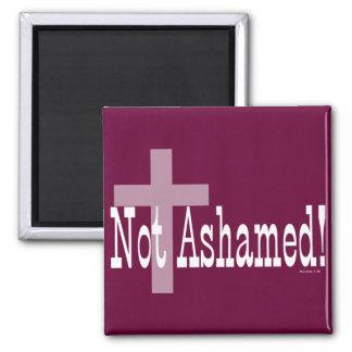 ¡No avergonzado! 1:16 de los romanos (con la cruz) Imán Cuadrado