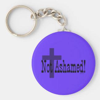 ¡No avergonzado! 1:16 de los romanos (con la cruz) Llavero Redondo Tipo Pin