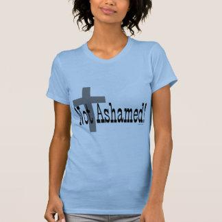 ¡No avergonzado! 1:16 de los romanos (con la cruz) Camisetas