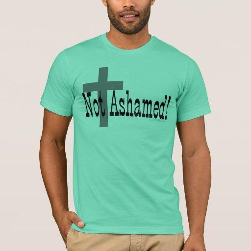 ¡No avergonzado! 1:16 de los romanos (con la cruz) Playera