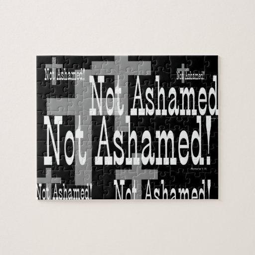 ¡No avergonzado! 1:16 de los romanos (con la cruz) Puzzles Con Fotos