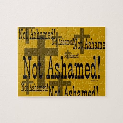 ¡No avergonzado! 1:16 de los romanos (con la cruz) Rompecabeza Con Fotos