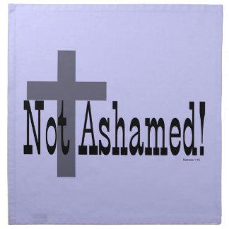 ¡No avergonzado! 1:16 de los romanos (con la cruz) Servilletas