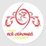 No avergonzado pegatina redonda