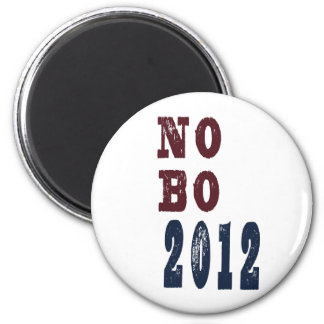 No B O 2012 Election Tee 2 Inch Round Magnet