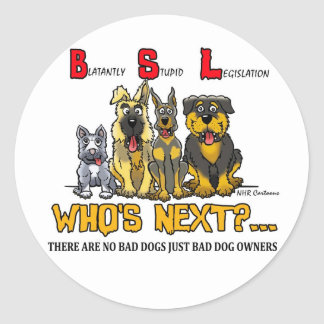 No B S L Blatantly Stupid Legislation Stickers
