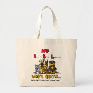 No B.S.L  No Breed Specific Legislation Canvas Bag